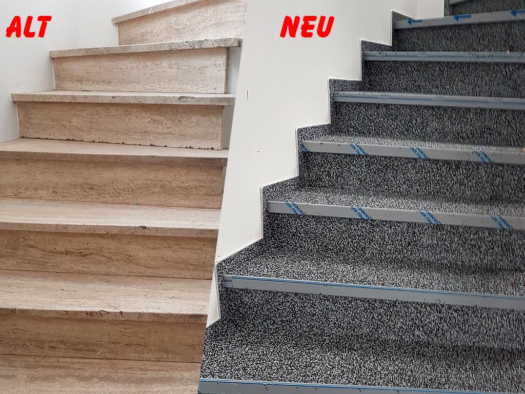 Treppen Steinteppich